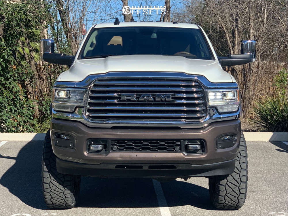 """2019 Ram 2500 Aggressive > 1"""" outside fender on 22x10 -18 offset Fuel Rebel and 37""""x13.5"""" Nitto Ridge Grappler on Suspension Lift 6"""" - Custom Offsets Gallery"""