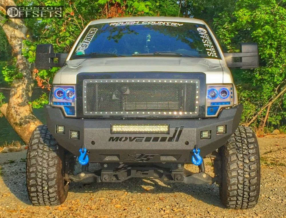 """2013 Ford F-150 Hella Stance >5"""" on 20x14 -76 offset Fuel Hostage and 35""""x12.5"""" Federal Couragia MT on Suspension Lift 6"""" & Body 3"""" - Custom Offsets Gallery"""