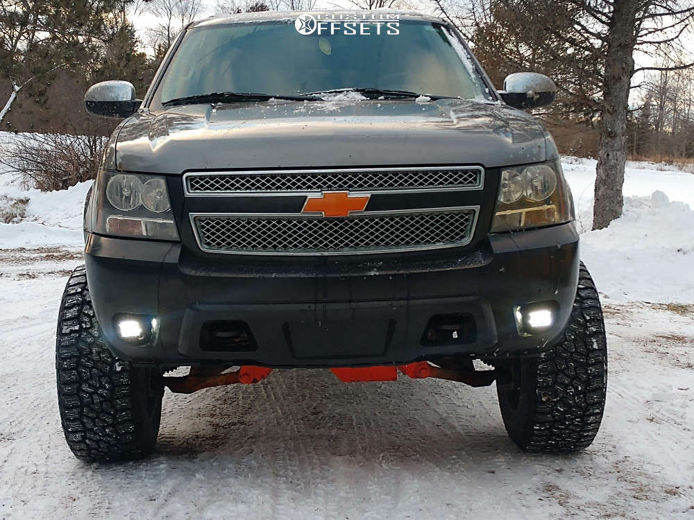 "2008 Chevrolet Suburban 2500 Super Aggressive 3""-5"" on 20x12 -44 offset Xd Rockstar III & 35""x12.5"" Falken Wildpeak At3w on Suspension Lift 6"" - Custom Offsets Gallery"