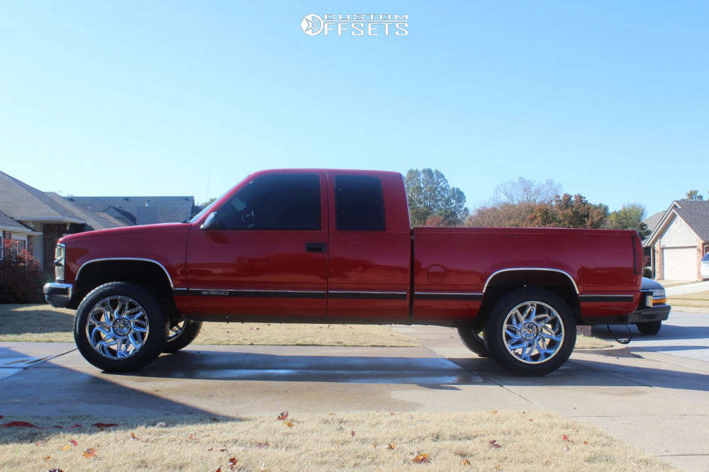 """1997 Chevrolet C1500 Super Aggressive 3""""-5"""" on 20x12 -51 offset Vision Spyder & 305/50 Toyo Tires Proxes S/t on Suspension Lift 4"""" - Custom Offsets Gallery"""