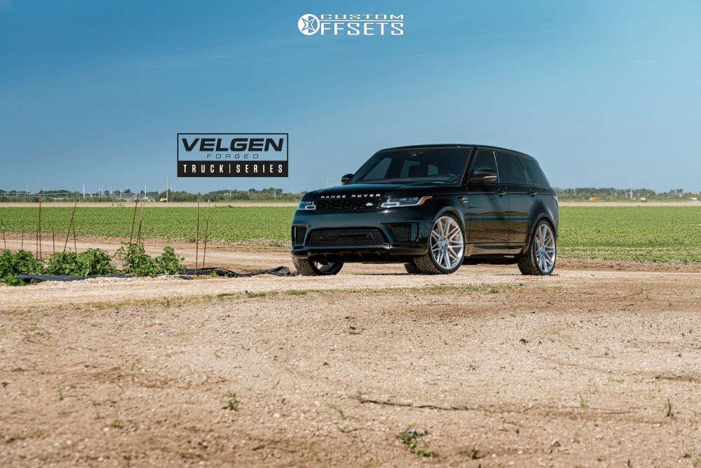 2019 Land Rover Range Rover Sport Flush on 24x10 33 offset Velgen Vft9 & 295/30 Toyo Tires Proxes St Iii on Stock Suspension - Custom Offsets Gallery