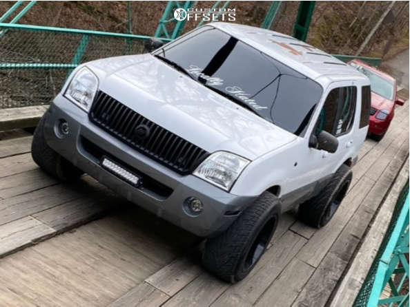"""2002 Mercury Mountaineer Aggressive > 1"""" outside fender on 20x12 -44 offset Motiv Offroad Magnus and 305/50 Toyo Tires Proxes S/t on Stock Suspension - Custom Offsets Gallery"""