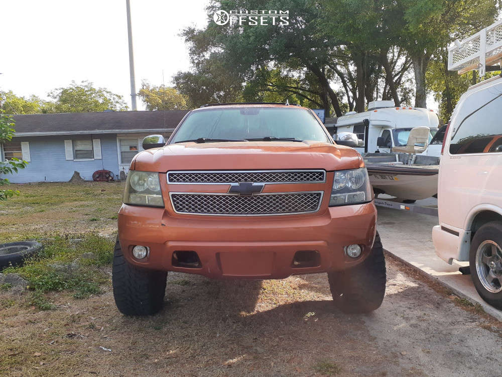 """2008 Chevrolet Avalanche Aggressive > 1"""" outside fender on 22x10 -24 offset RBP 64r & 35""""x12.5"""" Haida Mud Champ on Suspension Lift 3.5"""" - Custom Offsets Gallery"""