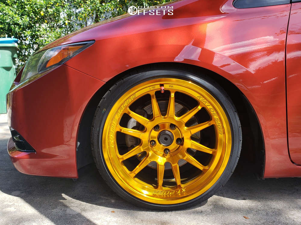 2012 Honda Civic Nearly Flush on 18x9 33 offset Cosmis Racing XT-206R & 215/35 Nitto Neo Gen on Coilovers - Custom Offsets Gallery