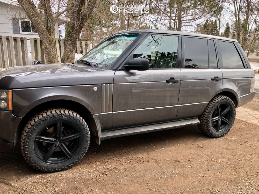 """2006 Land Rover Range Rover Slightly Aggressive on 20x8.5 35 offset Vision Boost and 275/55 AMP Terrain Attack At A on Suspension Lift 2.5"""" - Custom Offsets Gallery"""
