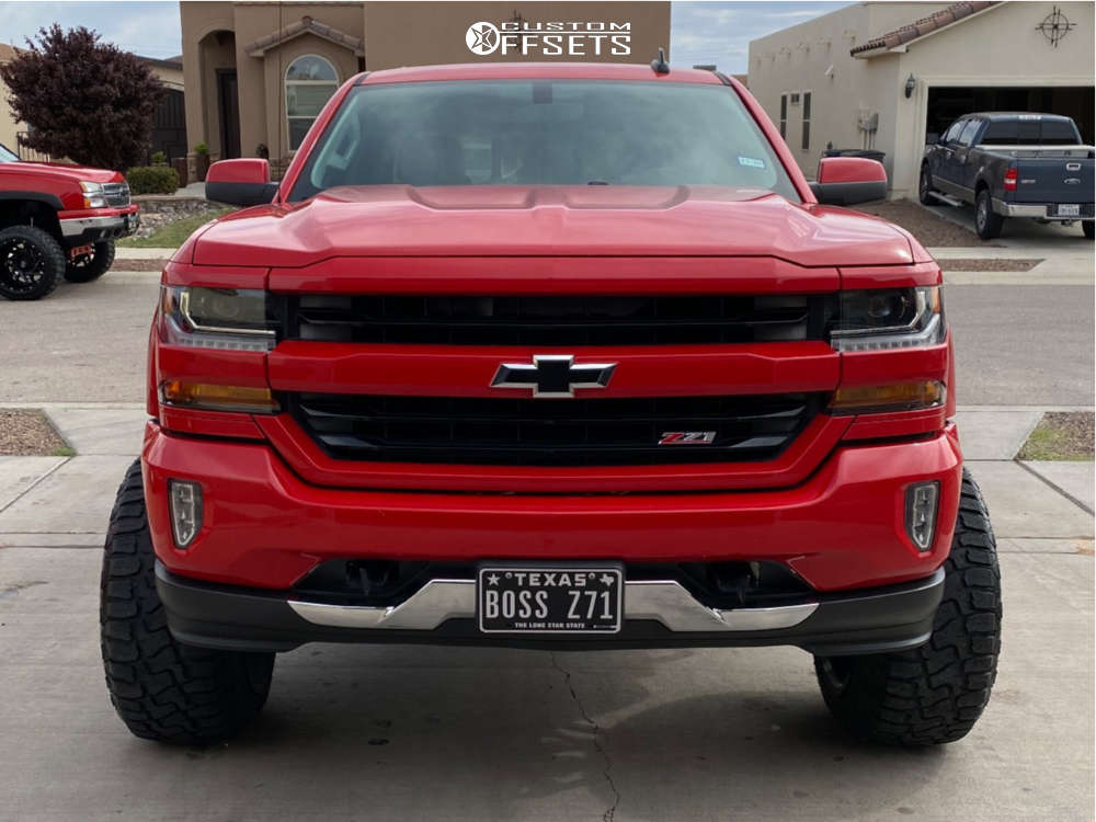 """2016 Chevrolet 1500 Super Aggressive 3""""-5"""" on 22x14 -76 offset Gima Overdrive and 35""""x12.5"""" Haida Hd878 R/t on Suspension Lift 7"""" - Custom Offsets Gallery"""