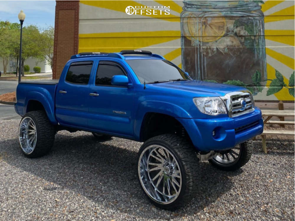 """2009 Toyota Tacoma Super Aggressive 3""""-5"""" on 26x14 -73 offset Tuff T2a and 35""""x13.5"""" Tri-ace Pioneer M/t on Suspension Lift 6"""" - Custom Offsets Gallery"""