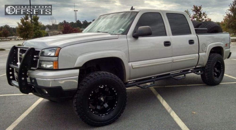 1 2006 Silverado 1500 Chevrolet Suspension Lift 6 Moto Metal 967 Black Aggressive 1 Outside Fender
