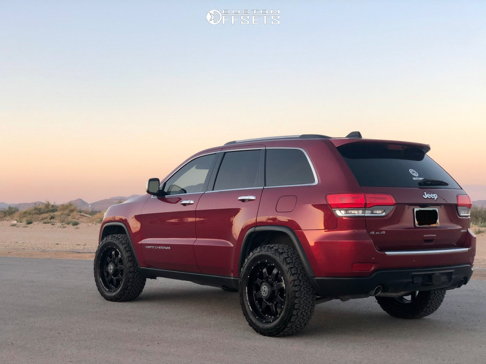 """2014 Jeep Grand Cherokee Aggressive > 1"""" outside fender on 20x9 0 offset Anthem Off-Road Commander and 275/55 BFGoodrich All Terrain Ta Ko2 on Suspension Lift 2.5"""" - Custom Offsets Gallery"""