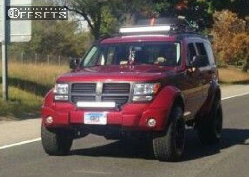 ... 1 2007 Nitro Dodge Suspension Lift 35 Fuel Hostage Black Aggressive 1  Outside Fender ...