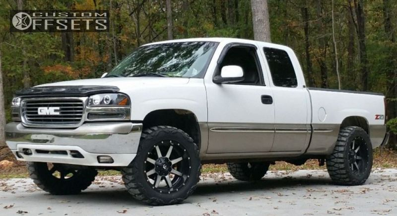 1 2001 Sierra 1500 Gmc Suspension Lift 3 Fuel Maverick Black And Machined Accents Slightly