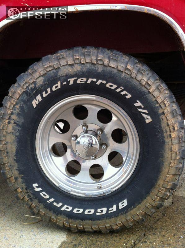 American Tire Store >> Wheel Offset 1996 Chevrolet K1500 Nearly Flush Stock Custom Rims