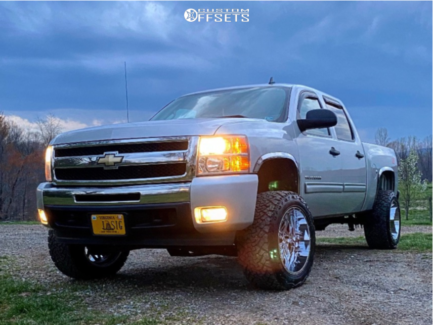 "2010 Chevrolet Silverado 1500 Super Aggressive 3""-5"" on 20x12 -57 offset Vision Spyder and 33""x12.5"" Venom Power Terrain Hunter X/t on Suspension Lift 5"" - Custom Offsets Gallery"