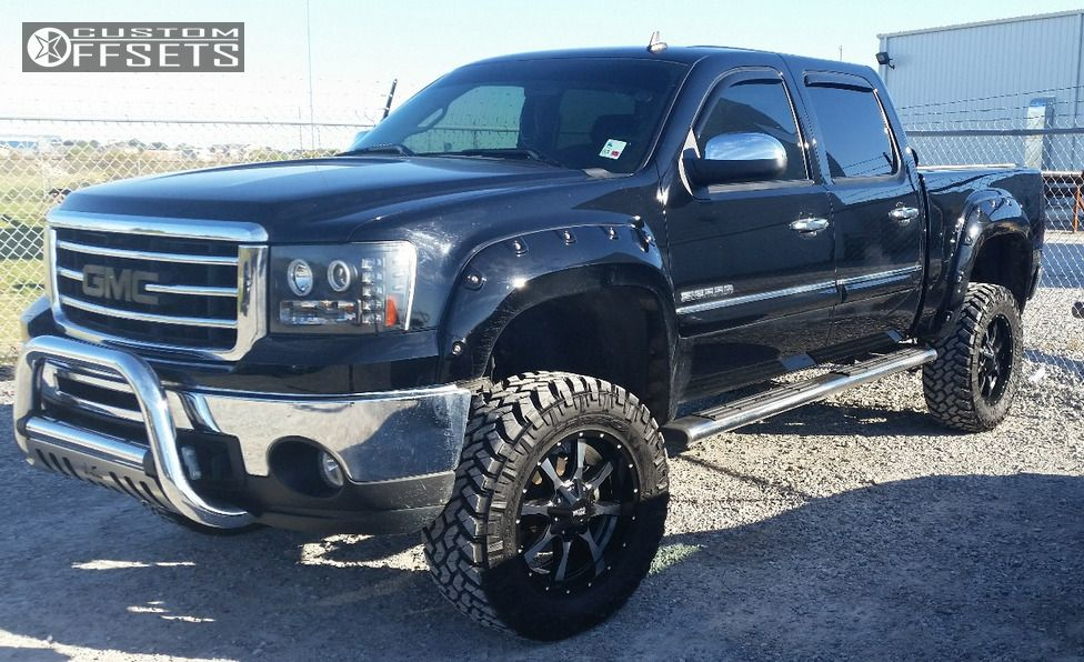 1 2013 Sierra 1500 Gmc Suspension Lift 75 Moto Metal Mo970 Machined Accents Aggressive 1 Outside Fender