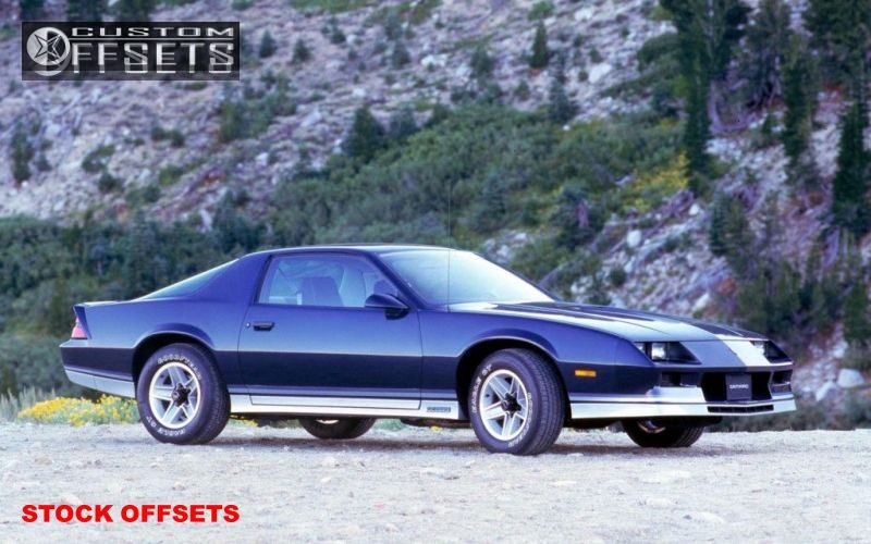 Wheel Offset 1982 1992 Chevrolet Camaro Tucked Stock Oem Factory
