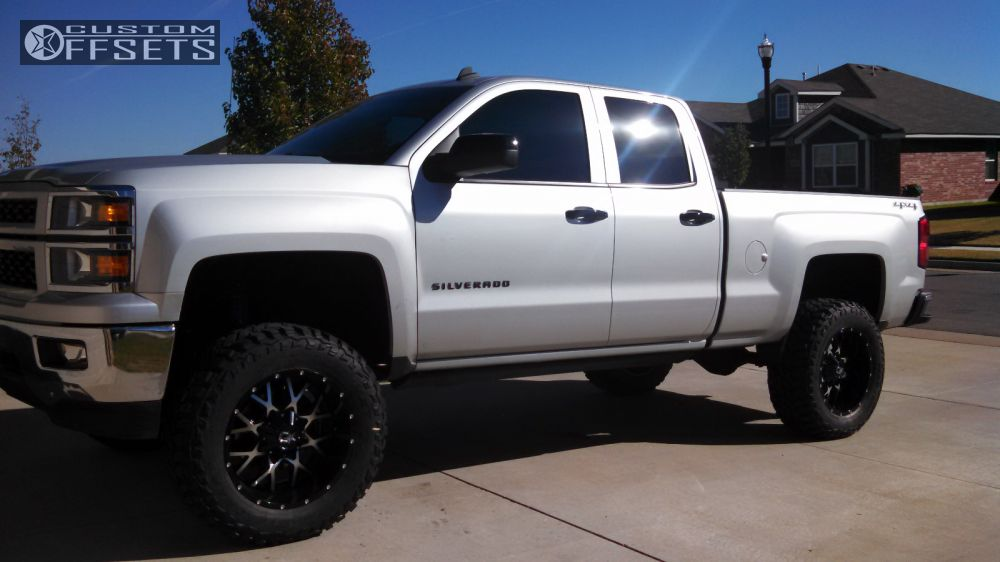 1 2014 Silverado 1500 Chevrolet Suspension Lift 7 Dropstars 645mb Black Aggressive 1 Outside Fender