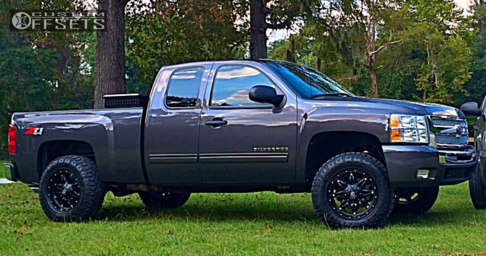 7 2011 Silverado 1500 Chevrolet Leveling Kit Fuel Hostage Black Slightly Aggressive