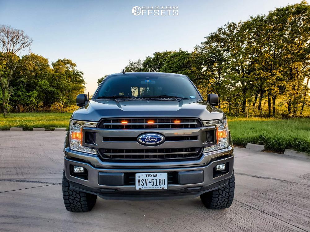 2 2019 F 150 Ford Halo Lift Suspension Lift 25in Icon Alloys Compression Black