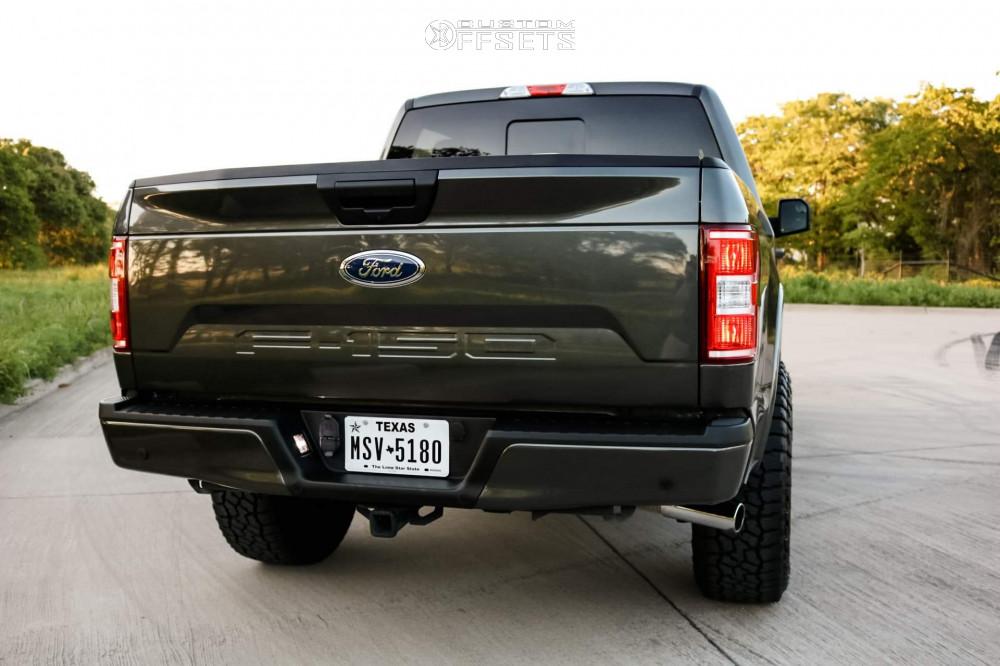 3 2019 F 150 Ford Halo Lift Suspension Lift 25in Icon Alloys Compression Black