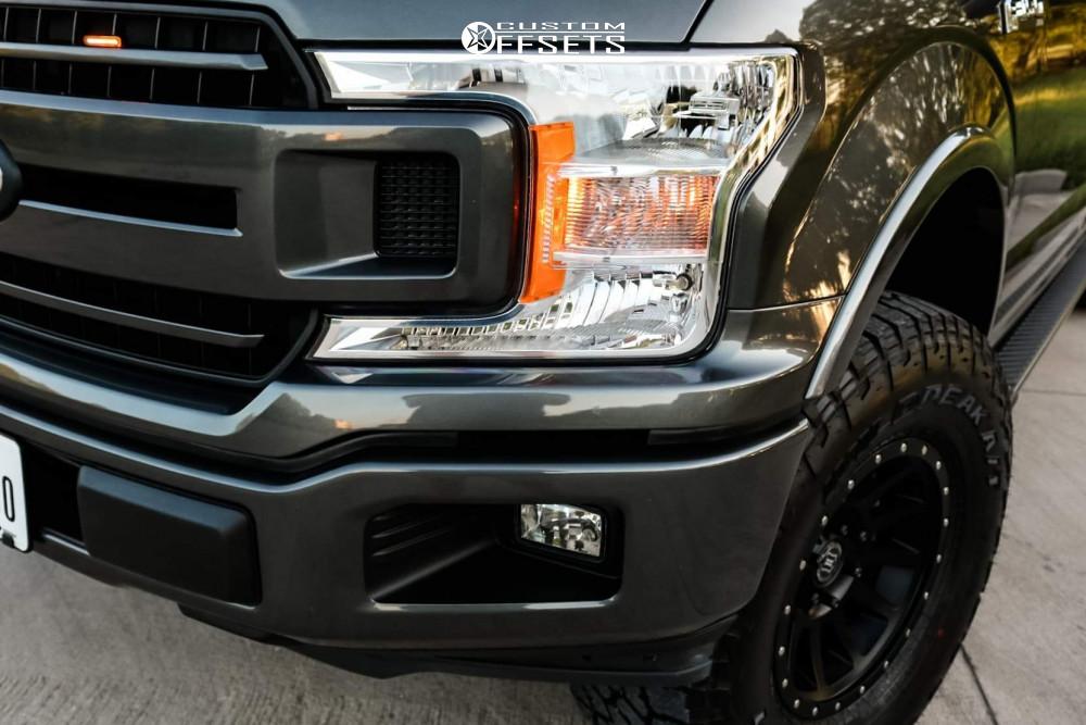 8 2019 F 150 Ford Halo Lift Suspension Lift 25in Icon Alloys Compression Black