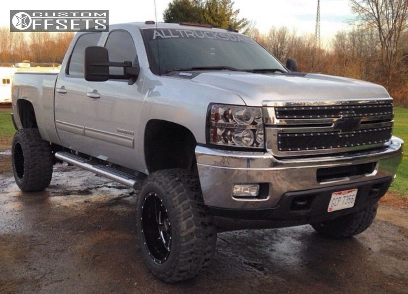 1 2011 Silverado 2500 Hd Chevrolet Suspension Lift 75 Moto Metal Mo962 Black Aggressive 1 Outside Fender