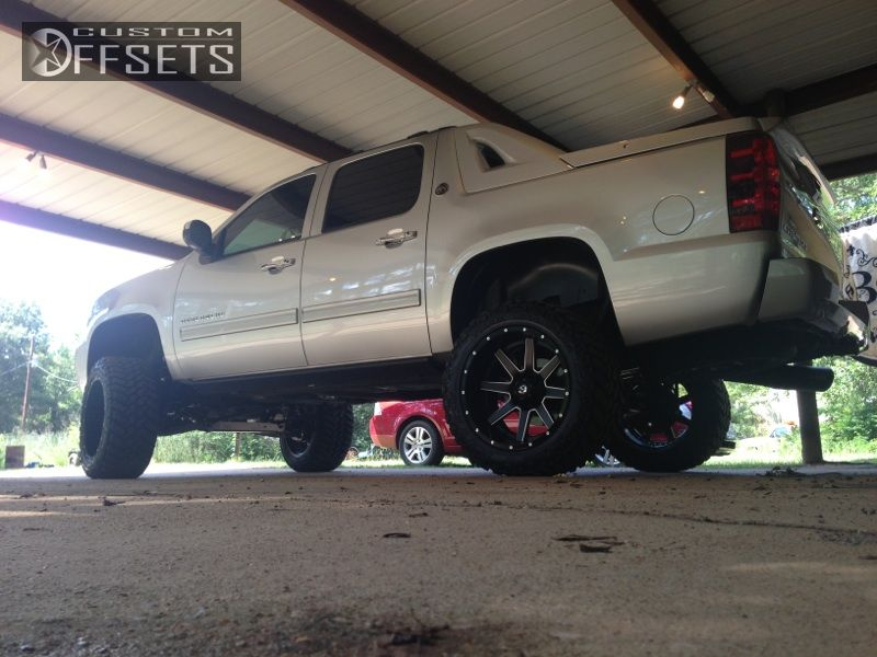 5 2012 Avalanche Chevrolet Suspension Lift 6 Fuel Maverick Custom Super Aggressive 3