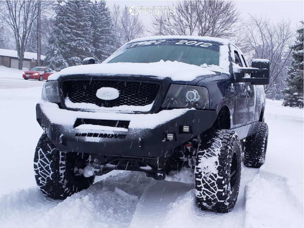 2 2007 F 150 Ford Rough Country Suspension Lift 6in Fuel Hostage Black