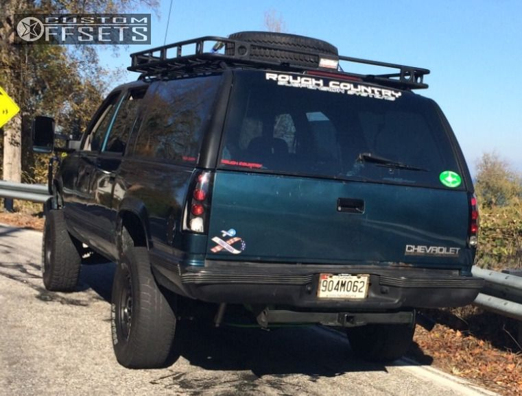 3 1994 K1500 Suburban Chevrolet Suspension Lift 6 Chevy Style 179 Black  Aggressive 1 Outside Fender ...