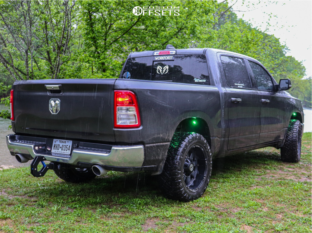 """2019 Ram 1500 Aggressive > 1"""" outside fender on 20x10 -24 offset Anthem Off-Road Defender and 33""""x12.5"""" Nitto Ridge Grappler on Suspension Lift 3.5"""" - Custom Offsets Gallery"""