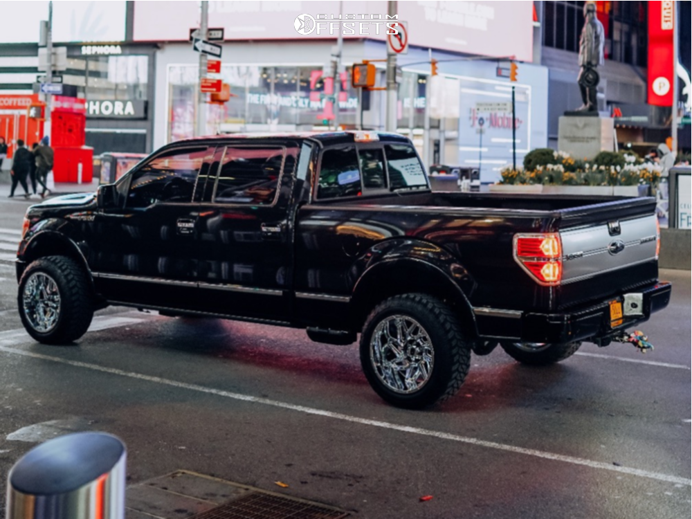 """2012 Ford F-150 Aggressive > 1"""" outside fender on 20x12 -51 offset Vision Spyder and 33""""x12.5"""" Accelera Deep Digger on Leveling Kit - Custom Offsets Gallery"""