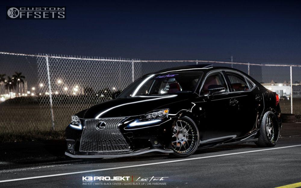 1 2014 Is250 Lexus Dropped 3 K3 Projekt Ind Series K37 Black Flush ...