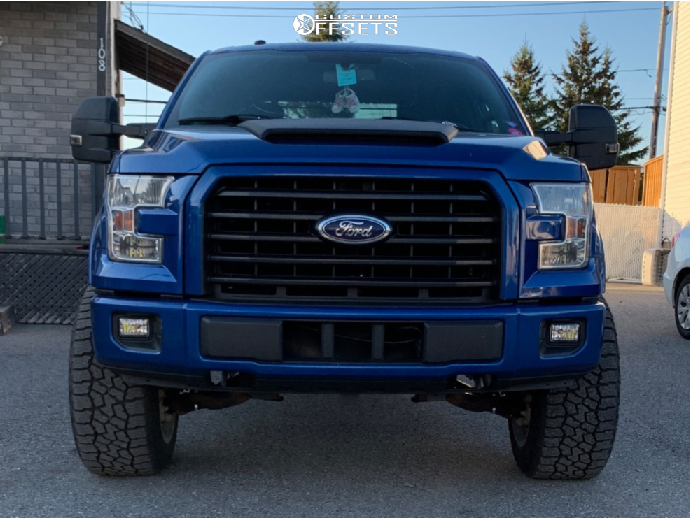 """2017 Ford F-150 Super Aggressive 3""""-5"""" on 20x12 -51 offset Vision Sliver and 305/55 Falken WildPeak AT3W on Suspension Lift 3"""" - Custom Offsets Gallery"""