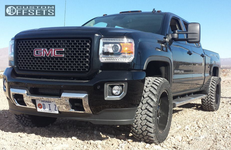 1 2015 Sierra 2500 Hd Gmc Leveling Kit Moto Metal Mo970 Machined Accents Super Aggressive 3 5