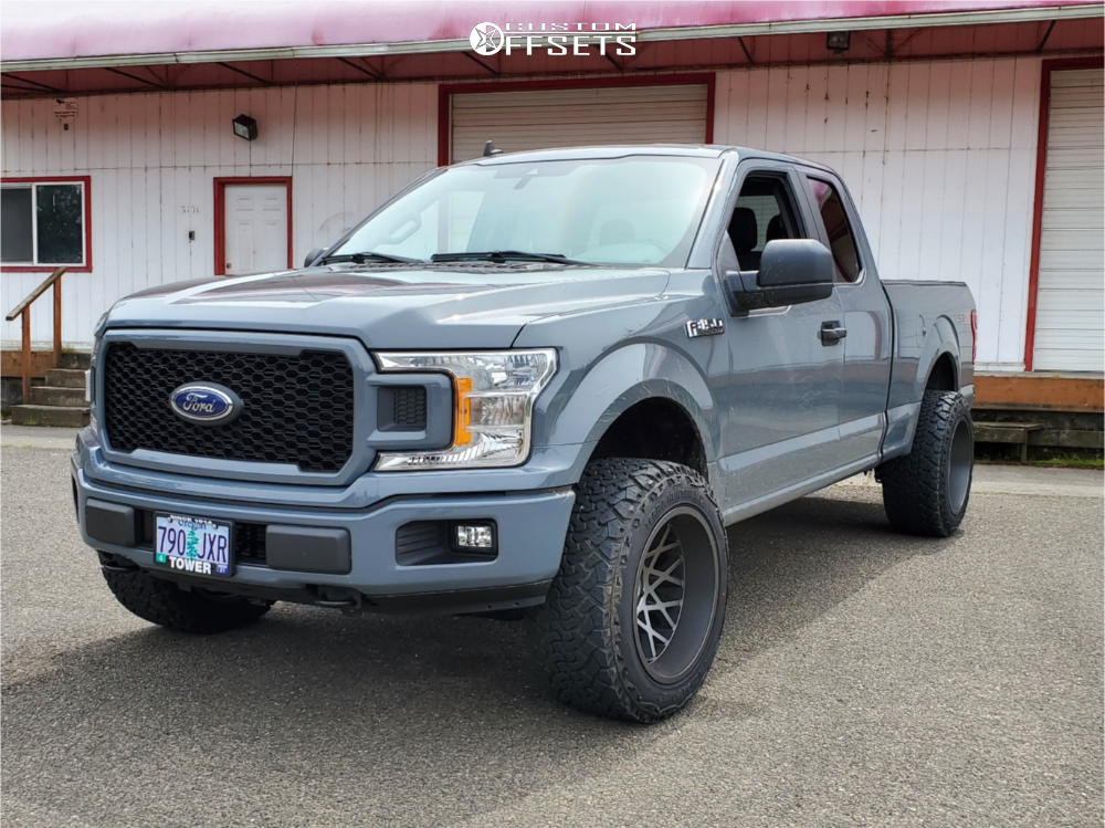 """2020 Ford F-150 Super Aggressive 3""""-5"""" on 20x12 -51 offset Toxic Punisher and 33""""x12.5"""" Venom Power Terra Hunter X/t on Leveling Kit - Custom Offsets Gallery"""