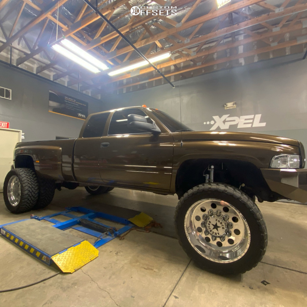 9 1997 Ram 3500 Dodge Zone Suspension Lift 5in American Force Big Ten Ss Polished