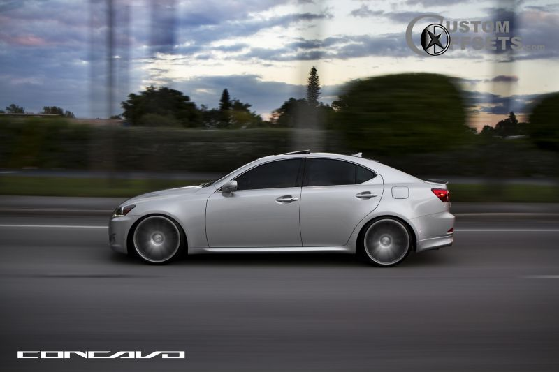 lexus is 250 2008 with rims. 2008 is 250 lexus 4dr sedan 25l 6cyl 6a dropped 1 3 concavo wheels cw s5 with rims h
