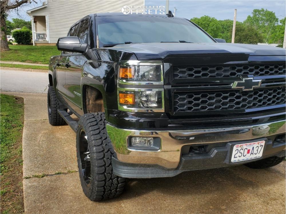10 2015 Silverado 1500 Chevrolet Bds Suspension Lift 4in Vision Rocker Machined Black
