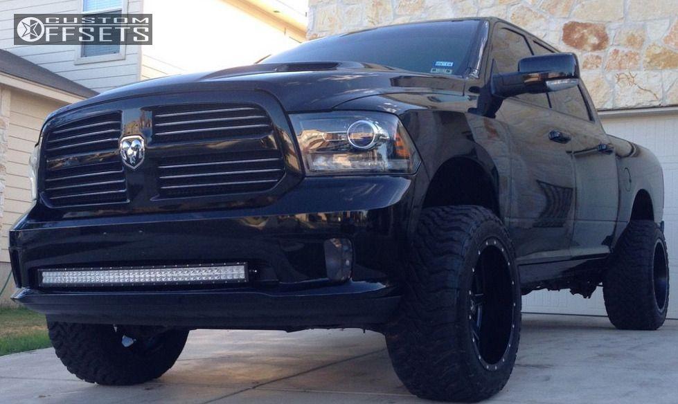 1 2013 Ram 1500 Dodge Leveling Kit Body Lift Fuel Maverick Black Super Aggressive 3 5