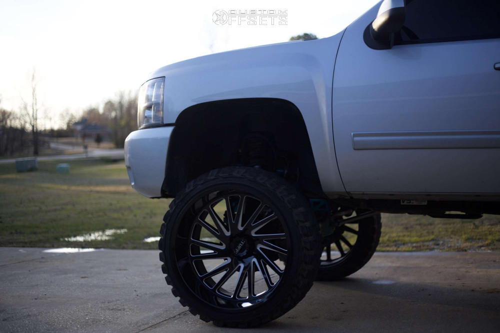 "2012 Chevrolet Silverado 1500 Super Aggressive 3""-5"" on 26x14 -72 offset Tuff T2a and 37""x13.5"" Gladiator Xcomp Mt on Suspension Lift 10"" - Custom Offsets Gallery"
