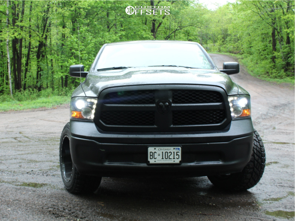"""2018 Ram 1500 Super Aggressive 3""""-5"""" on 20x12 -51 offset Vision Sliver and 35""""x12.5"""" Cooper Discoverer S/t Maxx on Suspension Lift 4"""" - Custom Offsets Gallery"""