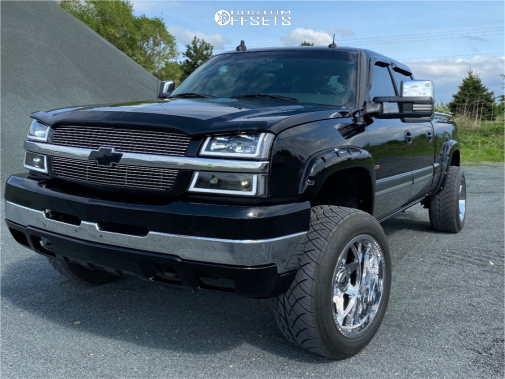 "2003 Chevrolet Silverado 2500 HD Super Aggressive 3""-5"" on 20x12 -44 offset Dropstars 655c and 305/50 Nitto Nt420s on Leveling Kit - Custom Offsets Gallery"
