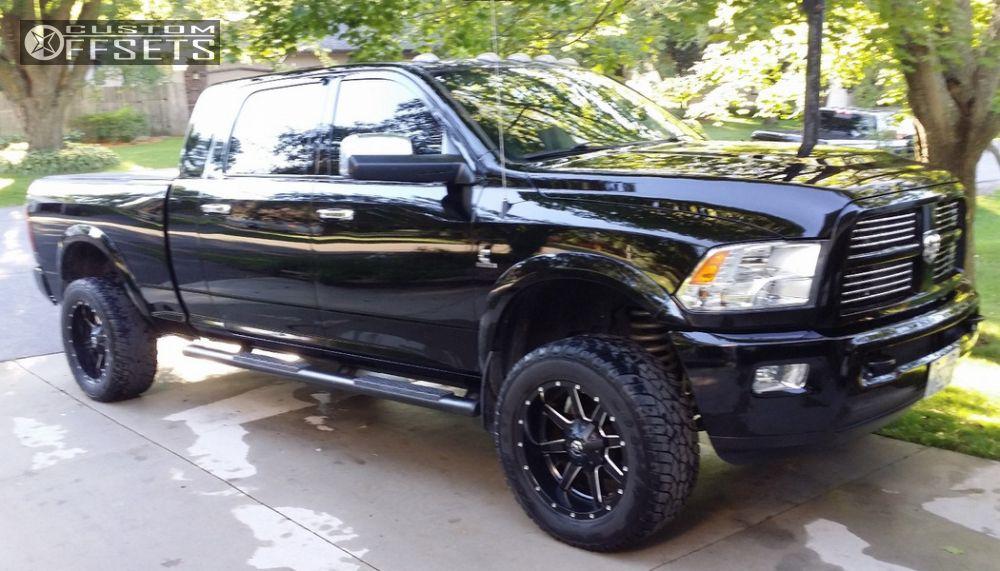 11107 1 2012 ram 2500 dodge leveling kit fuel maverick black aggressive 1 outside fender - Dodge Ram 2500 Black Edition