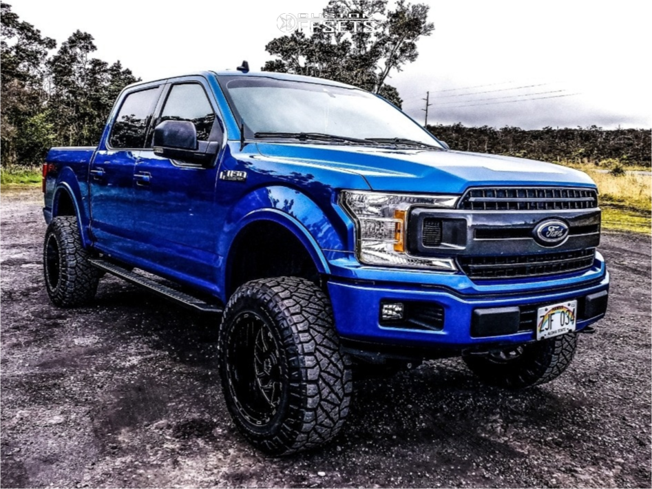 "2019 Ford F-150 Aggressive > 1"" outside fender on 20x12 -44 offset TIS 544mb and 35""x12.5"" Nitto Ridge Grappler on Suspension Lift 6"" - Custom Offsets Gallery"