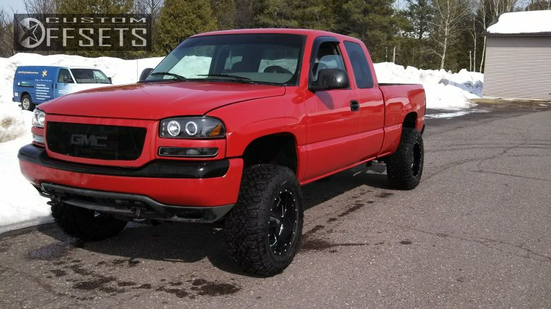 1 1999 Sierra 1500 Gmc Body Lift 3 Moto Metal 962 Machined Accents Aggressive 1 Outside Fender