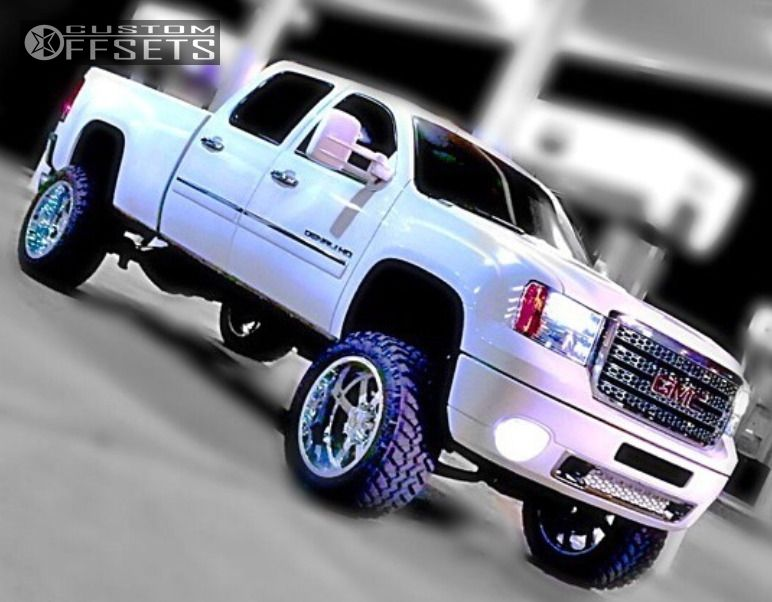 1 2011 Sierra 2500 Hd Gmc Suspension Lift 7 Gear Alloy Big Block Chrome Super Aggressive 3 5