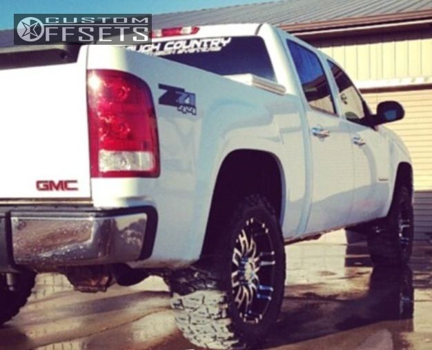 1 2008 Sierra 1500 Gmc Suspension Lift 35 Helo He835 Machined Accents Slightly Aggressive