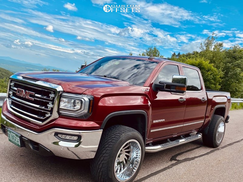 "2017 GMC Sierra 1500 Super Aggressive 3""-5"" on 20x12 -51 offset ARKON OFF-ROAD Caesar and 305/50 Toyo Tires Proxes St Iii on Suspension Lift 3"" - Custom Offsets Gallery"