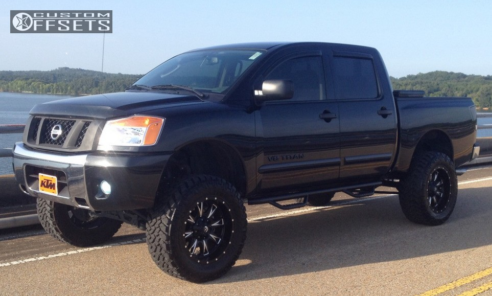 1 2011 Titan Nissan Suspension Lift 6 Fuel Offroad Throttle Machined Accents Aggressive Outside Fender