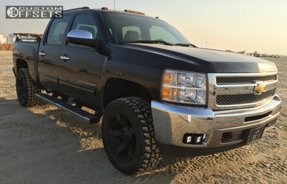 1 2010 Express 1500 Chevrolet Suspension Lift 4 Xd Rockstar Ii Black Aggressive 1 Outside Fender