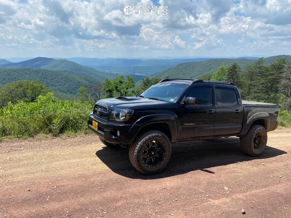 2 2011 Tacoma Toyota 2 Inch Level Suspension Lift 3in Fuel Maverick D538 Black